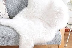sheepskin, fur area rug