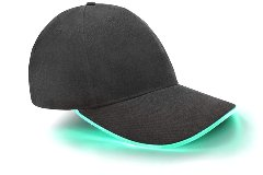 cap with lights
